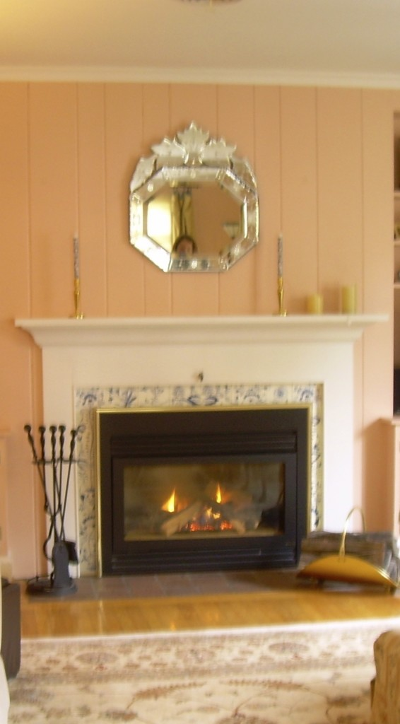 Outdated fireplace design