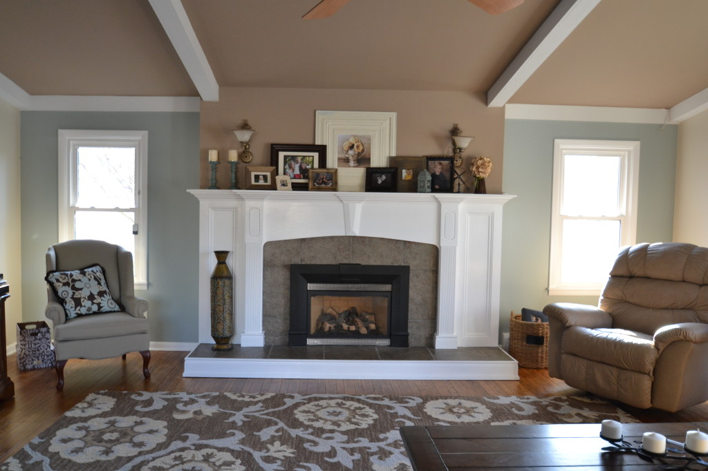 After an interior fireplace transformation