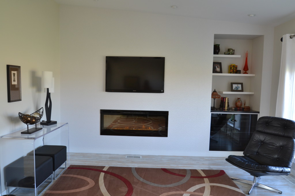 Modern fireplace den